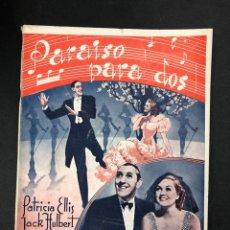 Libros de segunda mano: PARAISO PARA DOS - P. ELLIS Y J. HUBERT - COLECCION CINE - EDICIONES RIALTO 1943 - IMPECABLE. Lote 193959858