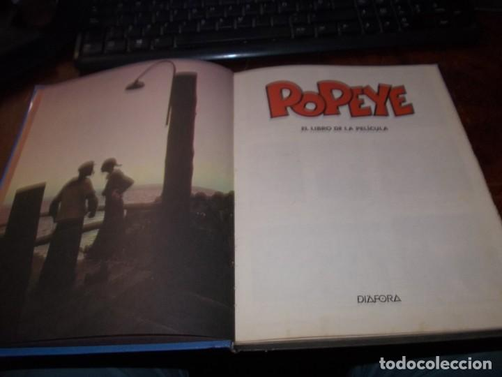 Libros de segunda mano: Popeye el libro de la película. Diafora 1ª ed. diciembre 1.981, interior con varios escritos a bolig - Foto 4 - 194229056