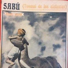 Libros de segunda mano: SABU, TOOMAI DE LOS ELEFANTES ED. BIBLIOTECA FILMS. CINE. Lote 194372125