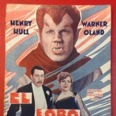 Libros de segunda mano: EL LOBO HUMANO, HENRY HULL, WARNER OLAND EDIC. FILMS, CINE. Lote 194377781