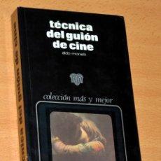 Libros de segunda mano: TÉCNICAS DEL GUIÓN DE CINE - DE ALDO MONELLI - EDICIONES ZEUS - 2ª EDICIÓN - AÑO 1976. Lote 194937115