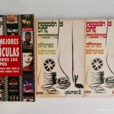 Libros de segunda mano: LOTE LIBROS DE CINE. LAS MEJORES PELÍCULAS DE TODOS LOS TIEMPOS . INICIACIÓN AL CINE MODERNO 1 & 2. Lote 194938920