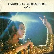 Libros de segunda mano: TODOS LOS ESTRENOS DE 1993 EDICIONES JC. Lote 195180092