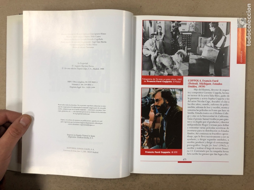 Libros de segunda mano: ENCICLOPEDIA ESPASA DEL CINE TOMO 3. AUGUSTO M. TORRES. DE COPPOLA A ELÍGEME - Foto 4 - 195429972