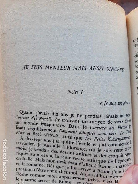 Libros de segunda mano: Les propos de Fellini Federico Fellini - Foto 3 - 196538410