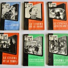 Libros de segunda mano: LOTE DE 6 NÚMEROS DE LA COLECCIÓN 7E ART. ÉDITIONS DU CERF. PARÍS 1952-1963. LIBROS SOBRE CINE. Lote 198403656