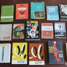 Libros de segunda mano: GRAN LOTE DE 24 LIBROS SOBRE CINE. ESPAÑA, FRANCIA, ITALIA. CLÁSICOS. TEORÍA E HISTORIA DEL CINE. Lote 198559903