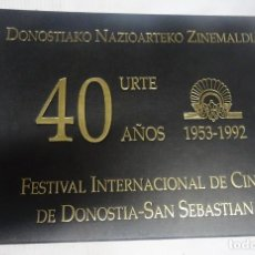 Libros de segunda mano: 40 AÑOS FESTIVAL INTERNACIONAL DE CINE DE DONOSTIA SAN SEBASTIÁN, 1953-1992, VER FOTOS. Lote 200785510