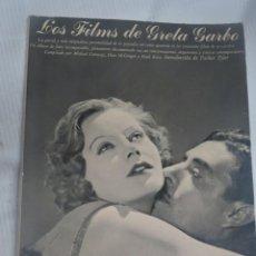 Libros de segunda mano: LOS FILMS DE GRETA GARBO, MICHAEL CONWAY, ED AYMA S.A. 1ª EDICIÓN, VER FOTOS. Lote 200785985