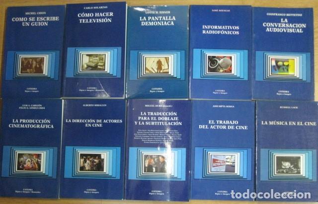 Libros de segunda mano: lote 32 libros editorial catedra signo e imagen cine guion montaje doblaje produccion - dificiles - Foto 3 - 205568435