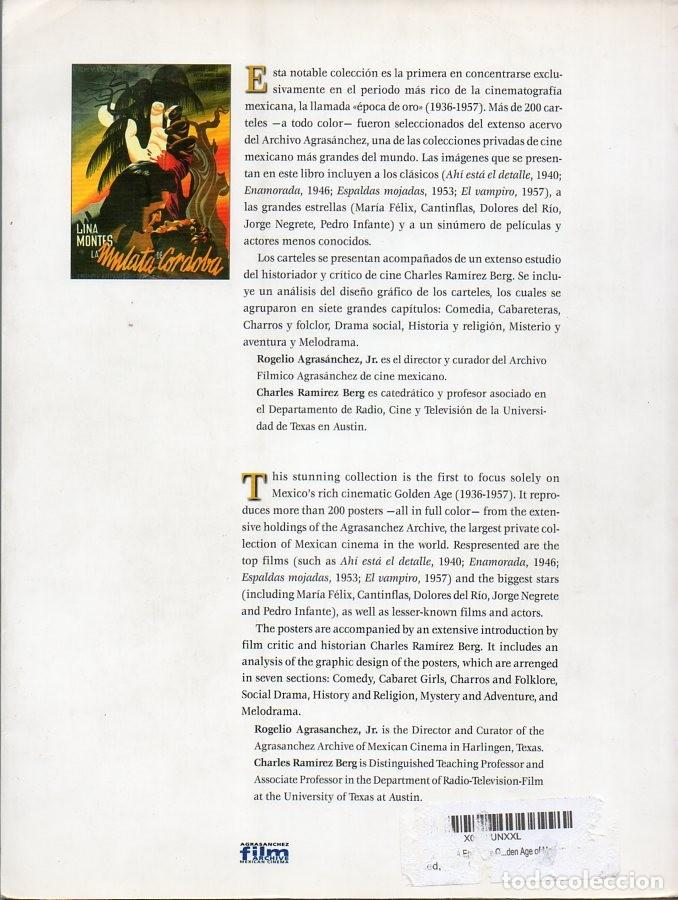Libros de segunda mano: Posters Y Carteles De La Epoca De Oro Del Cine Mexicano 1936 1956 Agrasánchez 200 Páginas 1997 - Foto 2 - 205719350