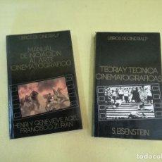 Libros de segunda mano: LOTE DE 2 LIBROS DE CINEMATOGRAFÍA, LIBROS DE CINE RIALP, ED. RIALP, MADRID, 1996. Lote 205771392
