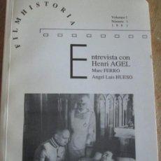 Libros de segunda mano: FILMHISTORIA--NUMERO 1 VOLUMEN 1 1991. Lote 207228785