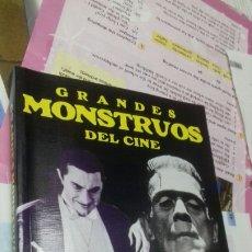 Libros de segunda mano: GRANDES MONSTRUOS DEL CINE. MIGUEL JUAN PAYAN. Lote 207643251