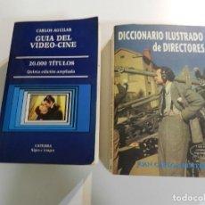 Libros de segunda mano: 2 LIBROS .- GUIA DEL VIDEO CINE 20.000 TÍTULOS + DICCIONARIO DE DIRECTORES. Lote 207707011