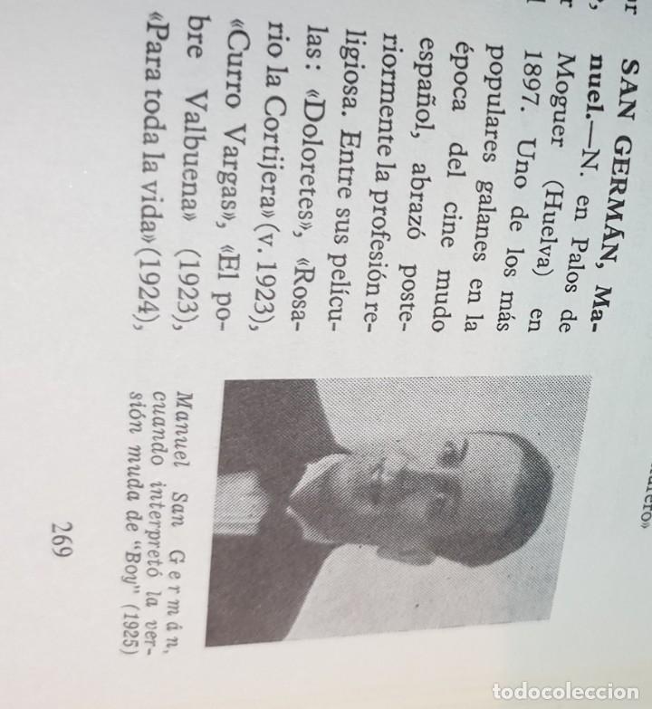 Libros de segunda mano: DICCIONARIO DEL CINE ESPAÑOL 1896-1966 FERNANDO VIZCAÍNO CASAS EDITORA NACIONAL AÑO 1968 - Foto 5 - 62271312