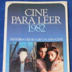 Libros de segunda mano: CINE PARA LEER 1982 - EDITORIAL MENSAJERO (1983). Lote 213761320