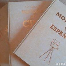 Libros de segunda mano: LA GRAN HISTORIA DEL CINE / TERENCI MOIX 2 TOMOS + CINE MODERNO ESPAÑOL. Lote 215398935