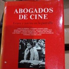 Libros de segunda mano: ABOGADOS DE CINE - VARIOS AUTORES - CASTALIA - 1996 - TAPA DURA - 187 PAGS. Lote 218018042