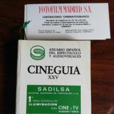 Libros de segunda mano: CINEGUIA XXV. AÑO 1986. ANUARIO ESPAÑOL DE ESPECTÁCULO Y AUDIOVISUALES. Lote 218981382