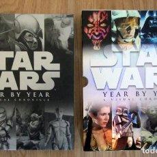 Libros de segunda mano: LIBRO STAR WARS YEAR BY YEAR A VISUAL CHRONICLE GUERRA DE LAS GALAXIAS 2 FOTOGRAFIAS COLECCION 2010. Lote 219697796