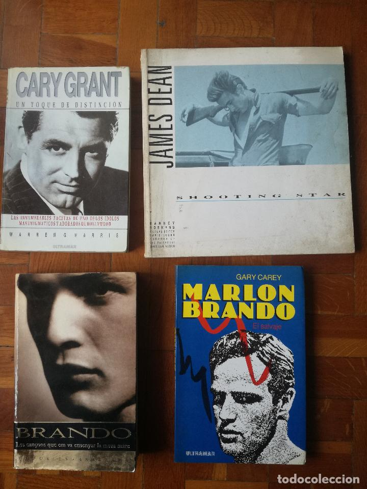 LOTE 4 LIBROS ACTORES DE CINE ANTIGUOS DE HOLLYWOOD GARY GRANT. JAMES DEAN. MARLON BRANDO (Libros de Segunda Mano - Bellas artes, ocio y coleccionismo - Cine)