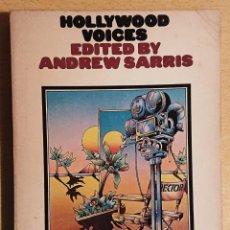 Libros de segunda mano: HOLLYWOOD VOICES · EDITED BY ANDREW SARRIS · CINEMA TWO · SECKER & WARBURG, 1967. Lote 220256441