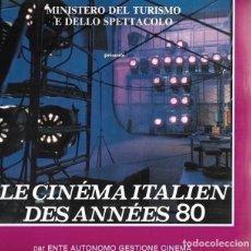 Libros de segunda mano: LE CINEMA ITALIEN DES ANNEES 80. EN FRANCÉS. Lote 220484710