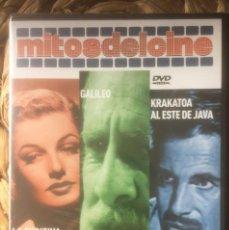 Libros de segunda mano: LA FUGITIVA/GALILEO/KRAKATOA AL ESTE DE JAVA DVD MITOS DEL CINE EX. PRECINTADO.. Lote 221846436