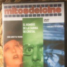 Libros de segunda mano: EL MISMO/EL HOMBRE DE LA CABINA DE CRISTAL/EL PEQUEÑO ABNER DVD MITOS DEL CINE EX. PRECINTADO.. Lote 221848010