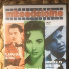 Libros de segunda mano: ALARMA EN EL EXPRESO/SE DIVORCIA EL, SE .. /MIENTRA LAS NUBES .. DVD MITOS DEL CINE EX. PRECINTADO.. Lote 221848050