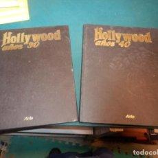 Libros de segunda mano: HOLLYWOOD AÑOS 30 Y 40 - LOTE 2 TOMOS - ARIN 1987 - FOTOS EN COLOR Y B/N. Lote 222123022