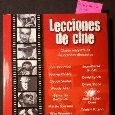 Libros de segunda mano: LECCIONES DE CINE. CLASES MAGISTRALES DE GRANDES DIRECTORES.. Lote 222658632