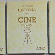Libros de segunda mano: LA GRAN HISTORIA DEL CINE, TOMOS 1 Y 2 + CINE MODERNO Y ESPAÑOL. OBRA COMPLETA (3 TOMOS). Lote 226009732