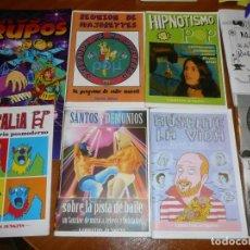 Libros de segunda mano: LOTE 8 FANZINES LIBRITOS JENKINS+CD (BÚSCATE LA VIDA,HIPNOTISMO,PATTY HEARST,SANTO,RUBE GOLDBERG... Lote 229521615