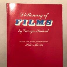 Libros de segunda mano: LIBRO DE CINE EN INGLÉS DICTIONARY OF FILMS BY GEORGE PADOUL. UNIVERSITY OF CALIFORNIA BERKELEY 1965. Lote 236449895