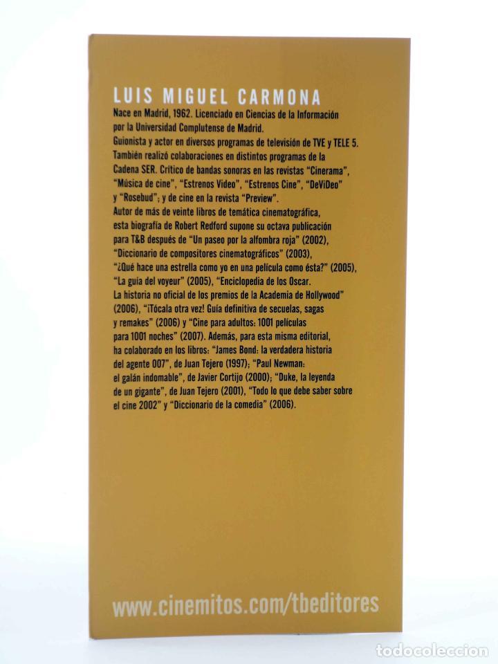 Libros de segunda mano: ROBERT REDFORD, EL CHICO DE ORO (Luís Miguel Carmona) T&B, 2009. OFRT - Foto 3 - 237251880