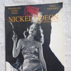 Libros de segunda mano: NICKEL ODEON REVISTA TRIMESTRAL DE CINE. Nº 30. PRIMAVERA 2003.. Lote 241996620