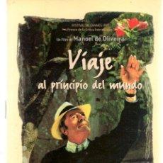 Libros de segunda mano: VIAJE AL PRINCIPIO DEL MUNDO. FESTIVAL DE CANNES 1997. MARCELO MASTROIANNI. (P/C28). Lote 246286115