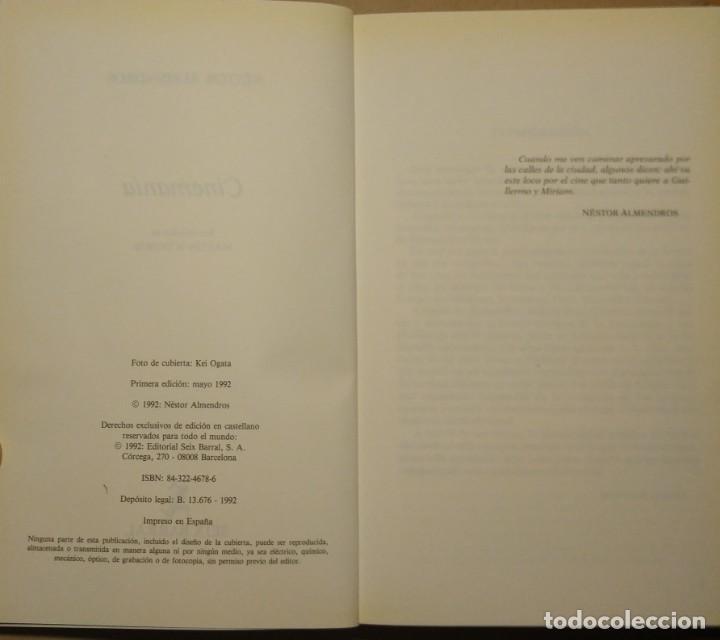 Libros de segunda mano: Cinemanía. Ensayos sobre cine, Néstor Almendros. Seix Barral. - Foto 2 - 247326730