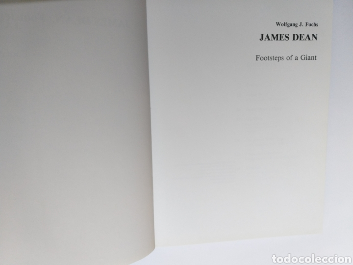 Libros de segunda mano: James Dean Footsteps of a Giant. Wolfgang J. Fuchs - Foto 9 - 261588850