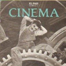 Libros de segunda mano: CINEMA CAPITULO 2 (EL PAIS): CHARLOT. LA COMEDIA, UN GENERO INAGOTABLE. A-CI-961. Lote 263025130