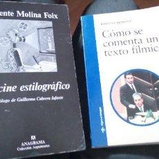 Libros de segunda mano: 2 LIBROS DE CINE: COMO SE COMENTA UN TEXTO FILMICO Y EL CINE ESTILOGRAFICO. Lote 265450544