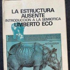 Libros de segunda mano: LA ESTRUCTURA AUSENTE. Lote 266370658