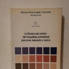 Libros de segunda mano: LIBRO-LA TÉCNICA ARTISTA DEL -MAQUILLAJE- PROFESIONAL PARA CINE, TELEVISIÓN Y TEATRO - VINCENT KEHOE. Lote 269015574
