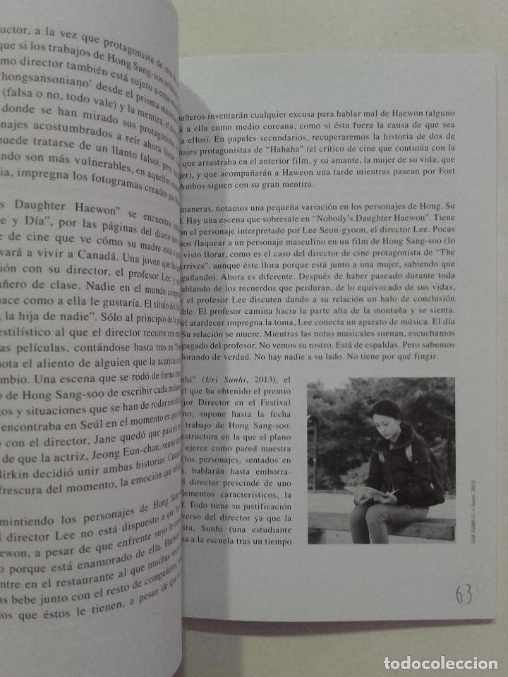 Libros de segunda mano: EL CINE DE HONG SANG-SOO - FESTIVAL INTERNACIONAL DE CINE DE GIJÓN - 2013 - Foto 5 - 269695533