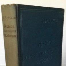Libros de segunda mano: TECNICA CINEMATOGRAFICA MODERNA. - ALVAR, M. F.. Lote 270559693
