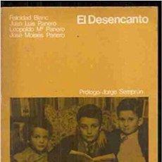 Libros de segunda mano: EL DESENCANTO FELICIDAD BLANC Y LOS PANERO. ELÍAS QUEREJETA 1976. 1ª EDI. GUIÓN DE LA PELÍCULA. Lote 277633078
