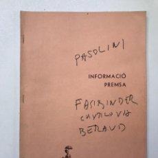 Libros de segunda mano: SEMANA INTERNACIONAL DE CINEMA-INFORMACIÓN PRENSA REF I. Lote 278205273
