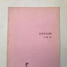 Libros de segunda mano: SETMANA INTERNACIONAL DE CINEMA DE BARCELONA DOSSIER I.N.A REF I. Lote 278205748